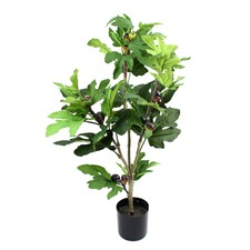 77cm Tall Faux Fig Tree with Pot