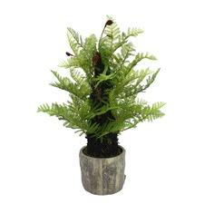 61cm Faux Fern Plant with Pot