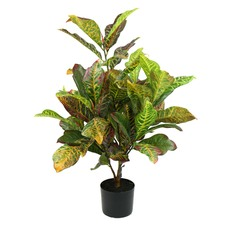 90cm Real Touch Faux Croton Plant with Pot