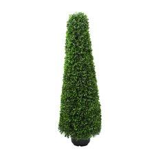 90cm Faux Senecio Topiary Cone with Pot
