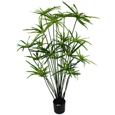 Potted Faux Cyperus Plant