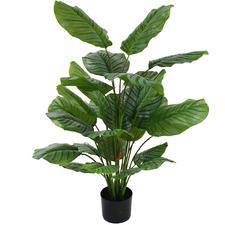 Potted Faux Calathea Plant