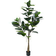 180cm Potted Faux Rubber Tree