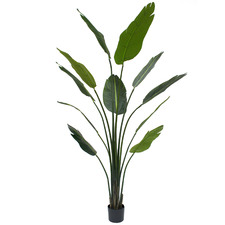 Potted Faux Banana Tree