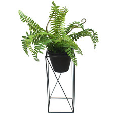 50cm Potted Faux Mixed Fern with Metal Stand