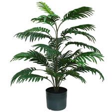 92cm Potted Faux Areca Palm Plant