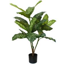 106cm Potted Faux Dieffenbachia Plant