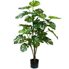 Potted Faux Split-Leaf Philodendron Plant