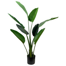 120cm Potted Faux Traveller Palm Tree