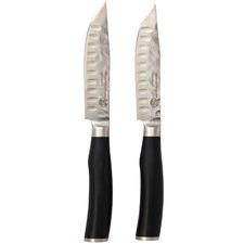 Classic Deluxe Jumbo Steak Knives with Black Handles (Set of 2)