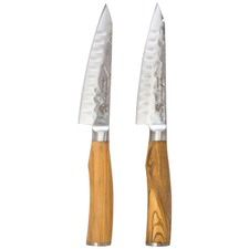 Classic Deluxe Wagyu Steak Knives with Olive Wood Handles (Set of 2)