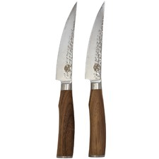 Signature Deluxe Bone Steak Knives with Walnut Wood Handles (Set of 2)