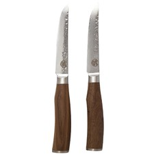 Signature Deluxe Tender Steak Knives with Walnut Wood Handles (Set of 2)