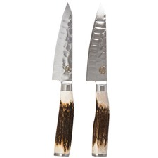 Signature Deluxe Wagyu Steak Knives with Antler Wood Handles (Set of 2)
