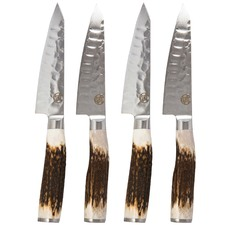 Signature Pro Wagyu Steak Knives with Antler Wood Handles (Set of 4)