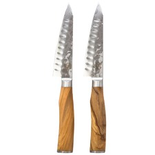 Signature Deluxe Wagyu Steak Knives with Olive Wood Handles (Set of 2)