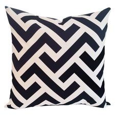 Black Geometric Zedd Cushion