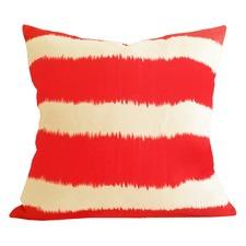 Burnt Orange Stripe Ikat Bayou Cushion
