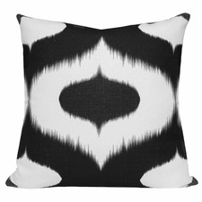 Black Ikat Neveen Cushion