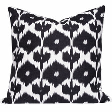 Black Ikat Kristine Cushion