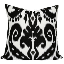 Black Ikat Orient Cushion