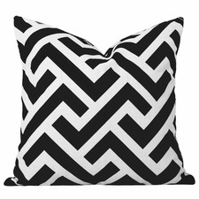 Black Geometric Zedd Cushion