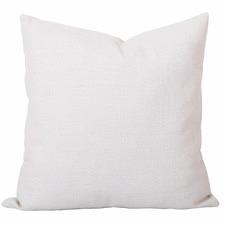 White Solid Georgia Cushion