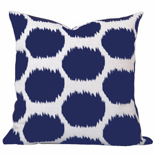 Blue Coastal Ikat Arzu Cushion