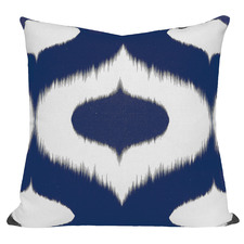 Blue Coastal Ikat Neveen Cushion