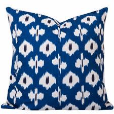 Blue Coastal Ikat Kristine Cushion