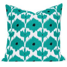 Turquoise Ikat Kristine Cushion