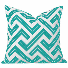 Turquoise Geometric Zedd Cushion