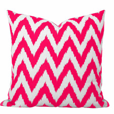 Pink Watermelon Ikat Gaia Cushion