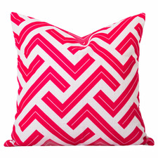 Pink Watermelon Geometric Zedd Cushion