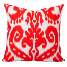 Burnt Orange Ikat Orient Cushion