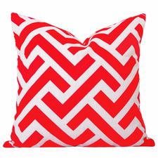 Burnt Orange Geometric Zedd Cushion