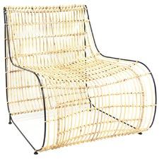 Black Trim Snake Cane Chair