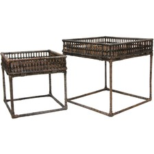 2 Piece Sunday Tray Side Table Set