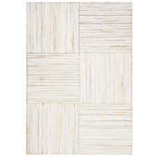 White Wash Stripe Teak Wood Wall Accent