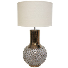 White & Gold Roque Porcelain Table Lamp