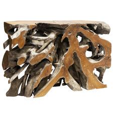 Natural Arthur Teak Wood Console Table