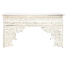 White Bhansi Mango Wood Console Table