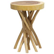 Natural Liberte Teak Wood Side Table
