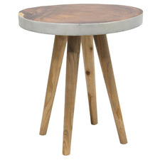 Natural & White 55cm Jensen Wooden Side Table
