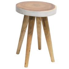 Natural & White 50cm Jensen Wooden Side Table