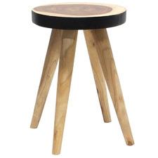 Natural & Black 50cm Jensen Wooden Side Table