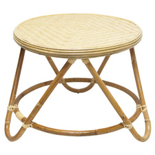 Natural Tri Rattan Side Table