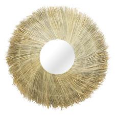 Natural Freya Round Seagrass Mirror