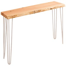 White Legs Molly Oak Console Table