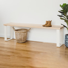Natural & White Estelle Tasmanian Oak Dining Bench